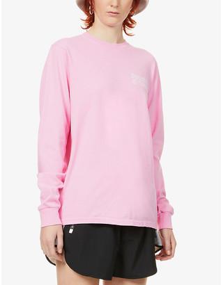 Sporty & Rich Logo-print cotton-jersey top
