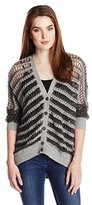 Chaser Women's Dolman Button Front Sweater