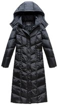 Femirah Women's Winter Coat Maxi Long Down Jacket with Hood