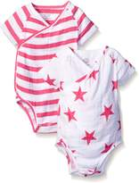 Aden Anais aden + anais Baby Short Sleeve Kimono Body Suit Two Pack
