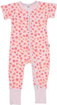 Bonds Baby Short Sleeve Zip Wondersuit Baby Suit Pink