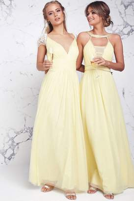 Little Mistress Lemon Maxi Dress