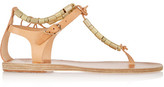 Ancient Greek Sandals Chrysso Beaded Leather Sandals - Beige