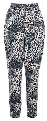 Dorothy Perkins Womens Multi Colour Leopard Print Cuffed Joggers