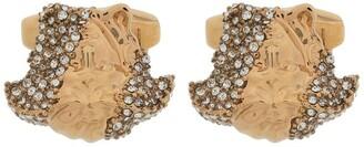 Versace crystal-embellished Medusa cufflinks