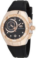Technomarine Women's 'Cruise' Quartz Stainless Steel and Silicone Casual Watch, Color:Black (Model: TM-115382)