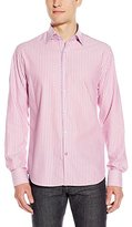 Stone Rose Men's Honeycomb Stripe Long Sleeve Button Down Shirt