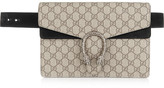 Gucci Dionysus Suede-trimmed Coated-canvas Belt Bag