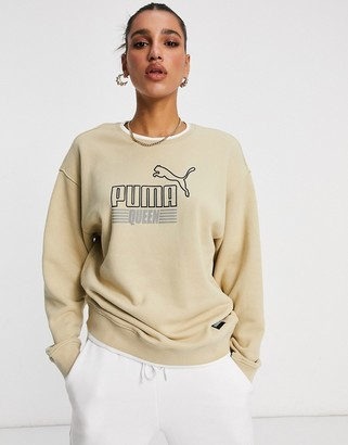 Puma Queen sweatshirt in beige