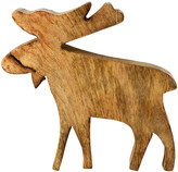 Leonardo Wooden Elk Christmas Ornament - Small