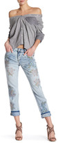 William Rast My Ex&s Floral Embellished Jean