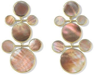 Ippolita 18kt Gold Polished Rock Candy 7-Stone Snowman Earrings