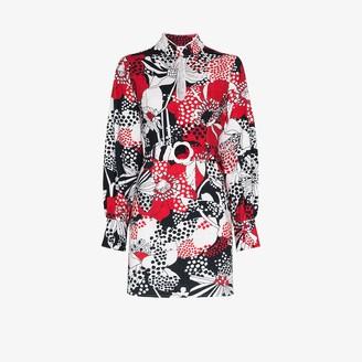 Rixo Michelle floral cotton mini dress