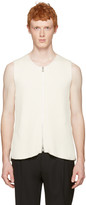 Maison Margiela Off-White Rib Knit Zip Vest