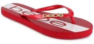 Bebe Women's Tierla Logo Flip Flops Women's Shoes