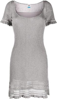 Missoni Ruffled-Hem Knitted Mini Dress