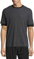 ATM Anthony Thomas Melillo Layered-Sleeve Crewneck T-Shirt, Gray/Black