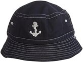 City Threads Anchor Embroidered Wharf Hat - Navy-Large