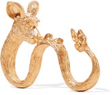 Valentino Rat gold-plated three-finger ring