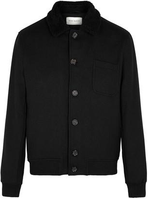 Oliver Spencer Foxham Black Wool-blend Jacket