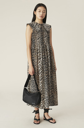 Ganni Cotton Silk Smock Dress