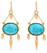Karry O - Turkish Delight Turquoise Drop Earrings - Womens - Blue