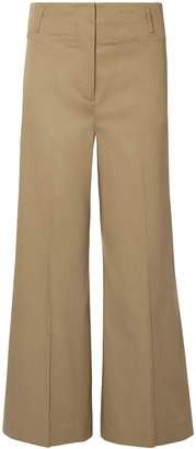 By Malene Birger Kalanna Stretch-cotton Gabardine Wide-leg Pants