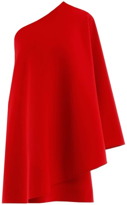 Valentino One-Shoulder Flared Dress