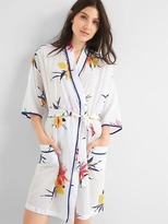 Gap Floral print tie-belt robe