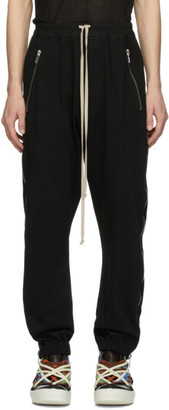 Rick Owens Black Zippered Sweatpants