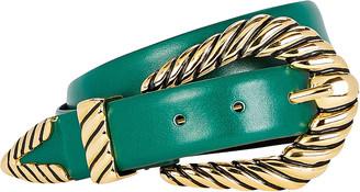 Alberta Ferretti Western Buckle Leather Belt