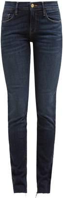 Frame Le Skinny De Jeanne Raw Hem Jeans - Womens - Dark Denim