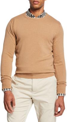 Salle Privee Men's Cesaire Cashmere Wool Crewneck Sweater