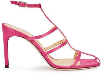 Giannico Kaya 90 fuchsia satin sandals