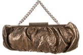 Thomas Wylde Metallic Textured Leather Handle Bag