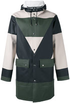Henrik Vibskov colour block coat - unisex - Cotton/Polyester/PVC - M