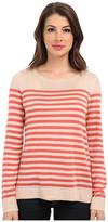 Vince Camuto L/S Stripe Crew Neck Sweater
