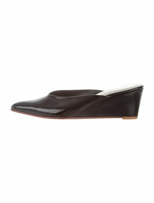 Rachel Comey Simone Pointed-Toe Wedge Mules Black
