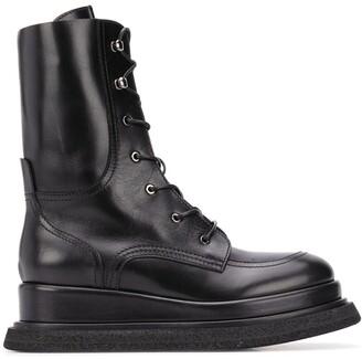 Premiata Calf-Length Flatform Boots