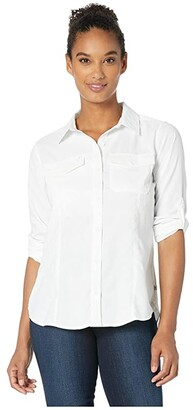 Royal Robbins Expedition Dry Long Sleeve (White) Women's Long Sleeve Button Up