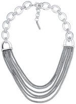 Nine West Silver-Tone Multi-Row Collar Necklace