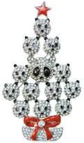 Ever Faith Panda Star Clear Austrian Crystal Brooch Silver-Tone A09906-4