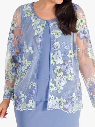 Chesca Bluebell Floral Jacket, Bluebell