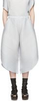 Pleats Please Issey Miyake Grey Alt Leaves Trousers