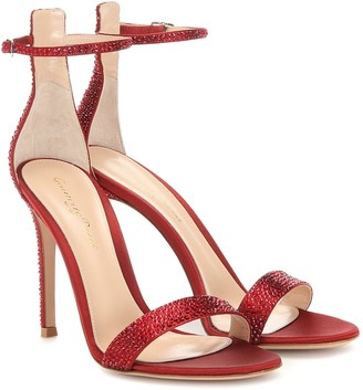 Gianvito Rossi Glam embellished satin sandals
