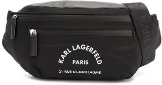 Karl Lagerfeld Paris Address print belt bag