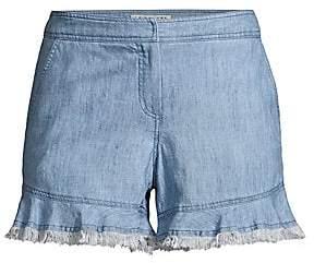 Trina Turk Women's Coral Reef Ruffle Shorts - Size 0