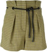 3.1 Phillip Lim origami pleat houndstooth shorts