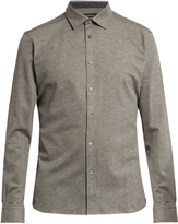 Ermenegildo Zegna Button-down long-sleeved cotton polo shirt
