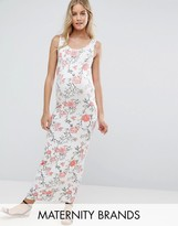 Mama Licious Mama.licious Mamalicious Sleeveless Floral Printed Jersey Maxi Dress